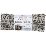 Red Heart Sassy Fabric Newsprint