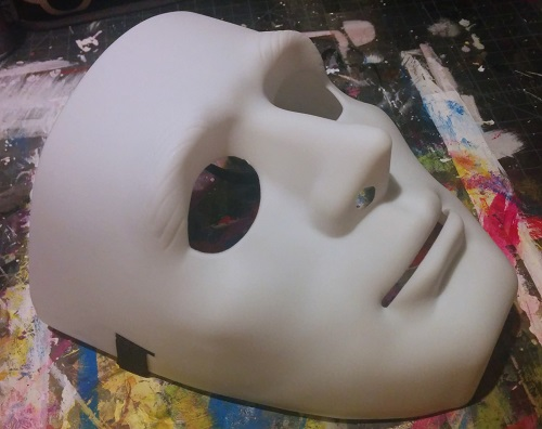 The hard mask I used as a mold.