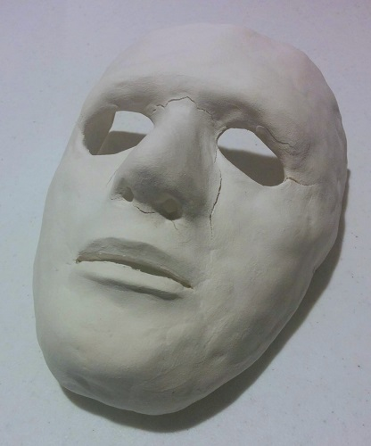 The mask I made using paper clay.