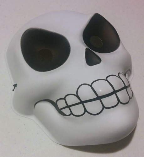 The mask I will paint in a calavera style.