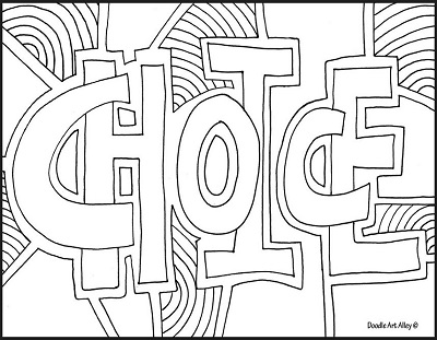 Coloring Page From Doodle Art Alley